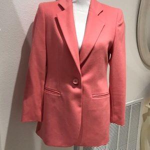 Talbots Peach Wool/Cashmere Blazer 4P